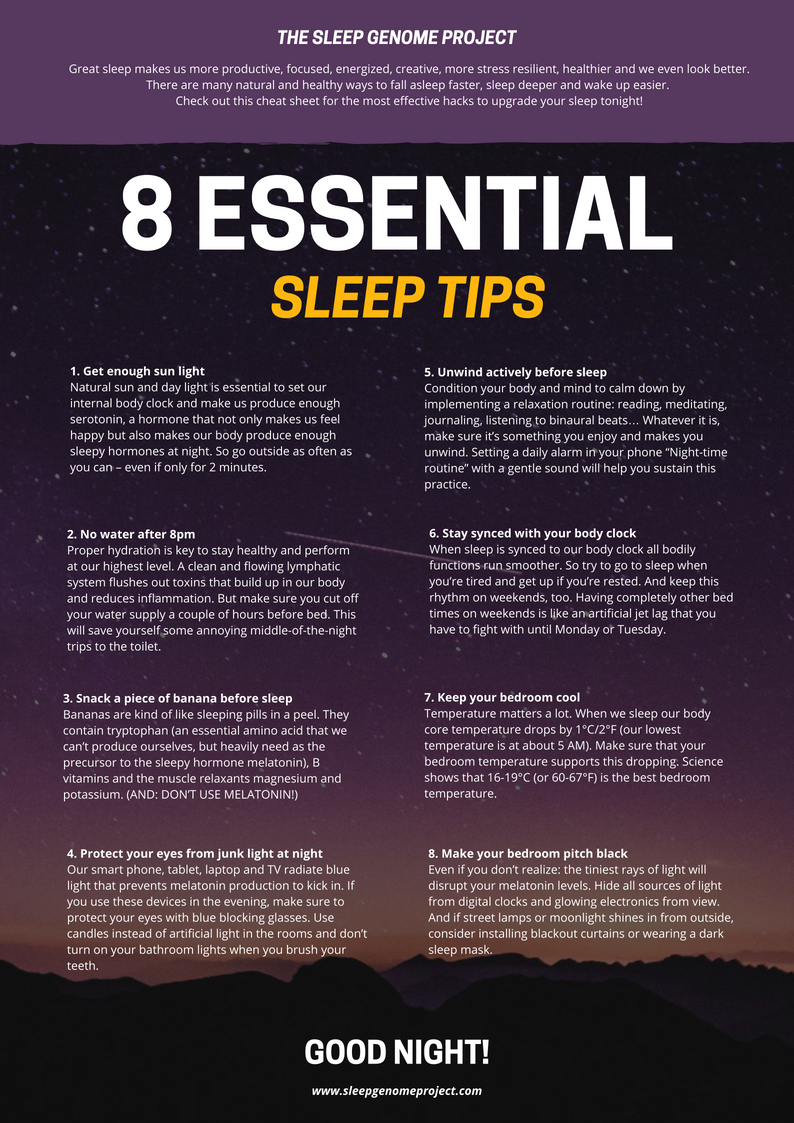 Guides about Sleep   The Sleep Genome Project